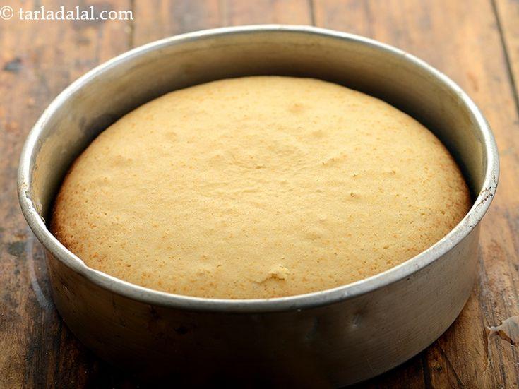 Eggless Vanilla Sponge Cake ( Pressure Cooker) | Recipe in ...