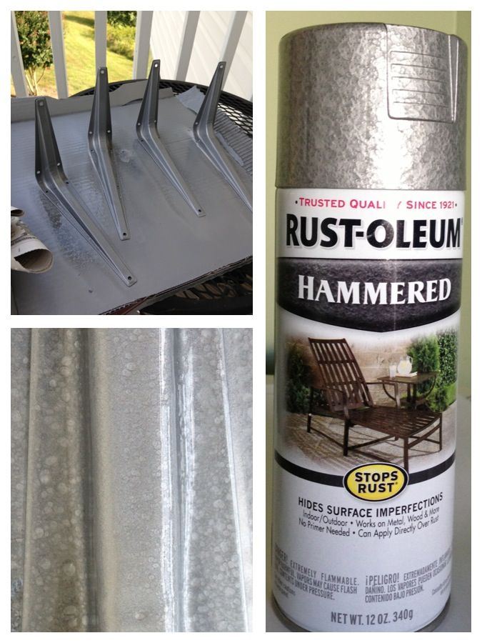 Spray Painting Galvanized Pipe