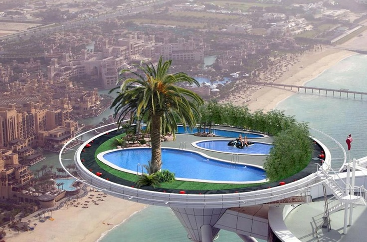 Rooftop pool in dubai scary pinterest pools rooftop - Tallest swimming pool in the world ...