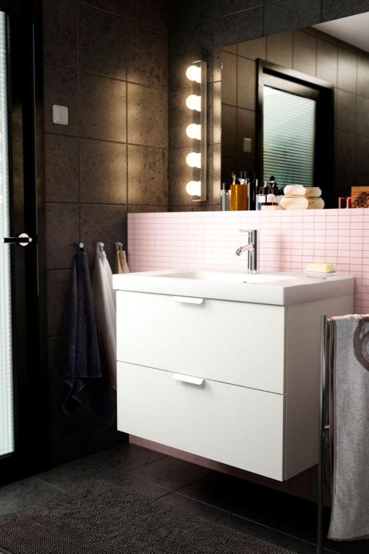IKEA Bad, Badezimmer IKEA, Idee, Bild, Inspiration, Waschtisch, Waschbecken, weiße Badmöbel ...