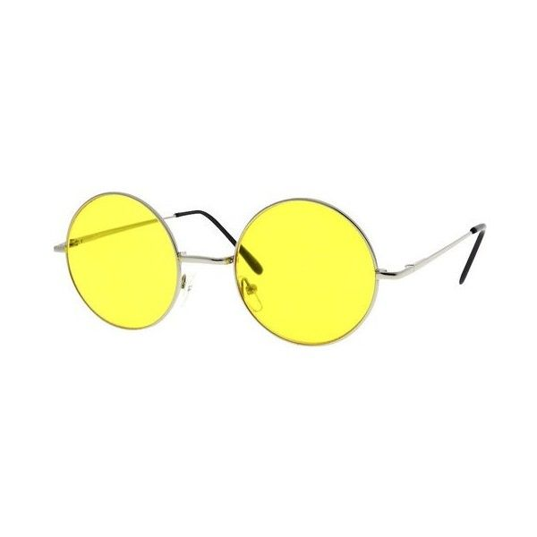 48ae5a5a27739 Round Circle John Lennon Inspired Yellow Color Lens Sunglasses Tea... ❤  liked on
