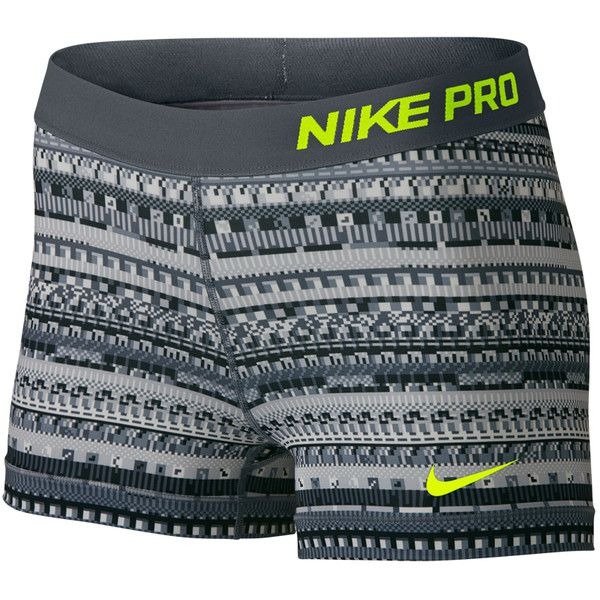 """Nike Pro 8 Bit 3"""" Compression Shorts Women's Lacrosse Shorts (75 BRL) ❤ liked on Polyvore featuring shorts, nike, compression shorts, nike shorts and short compression shorts"""