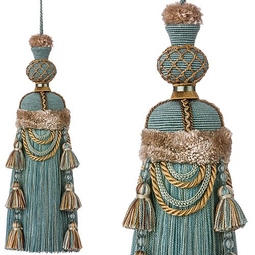 Regency Decorative Key Tassel, Flamenco