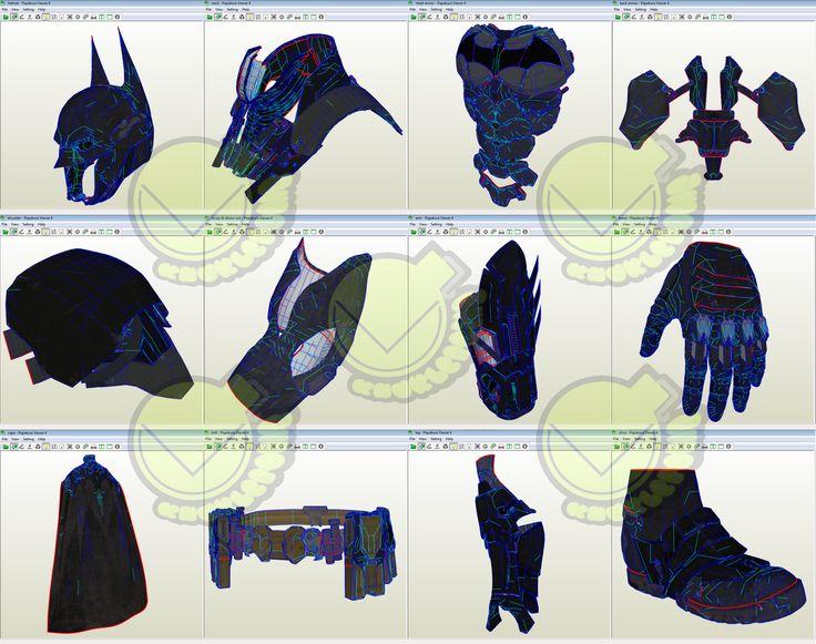 Batman V 8.04 Costume Template / Pattern Pepakura 3D Model
