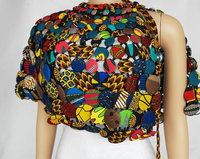 WUSULU NECKLACE , African necklace, African jewelry, Ankara necklace, Ankara jewelry, accessories, jewelry, body jewelry,conversion piece | Pinterest | African…
