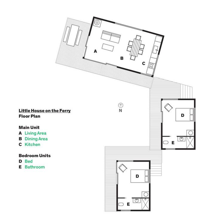 Cluster House Floor Plan: A Cluster Of Cabins In A Former Quarry Makes A Simple