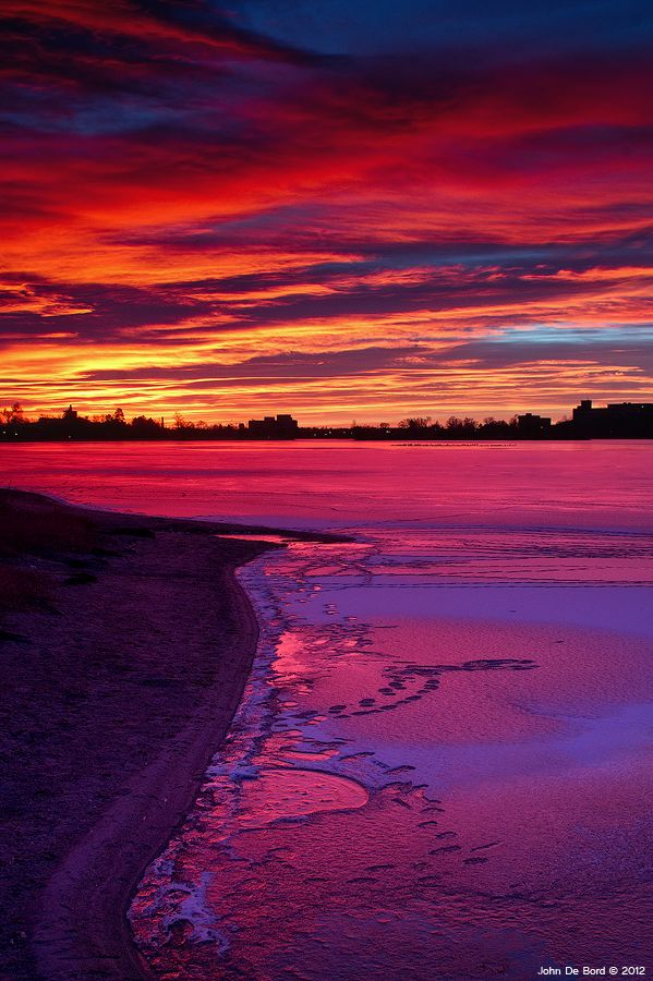 Evening sky - Sloan's Lake, Denver, Colorado - Awesome <3