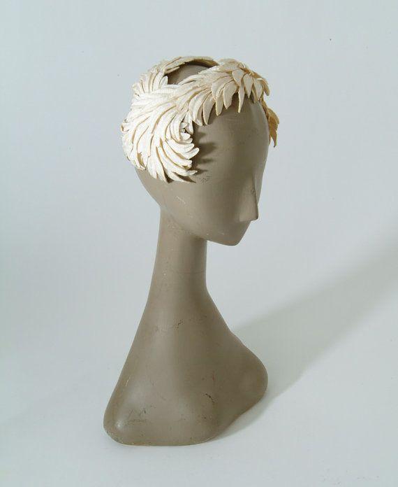 1950's White Swan Hat by missfarfalla on Etsy