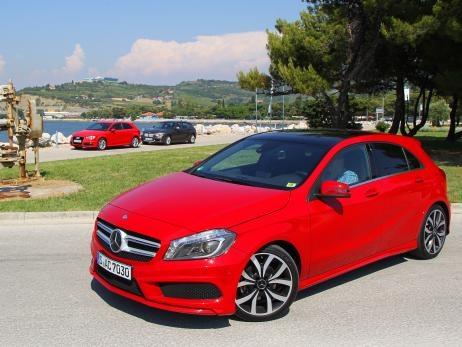 2012 Mercedes A-Klasse: Erster Vergleich mit Audi A3 und BMW 1er  #mercedes