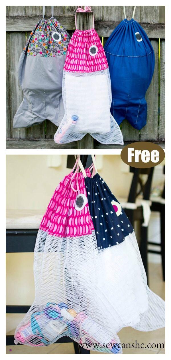 Fish Laundry Bag Free Sewing Pattern Startsewingfreepattern