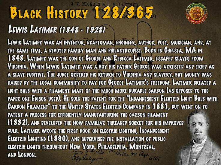Lewis Latimer (1848-1928)