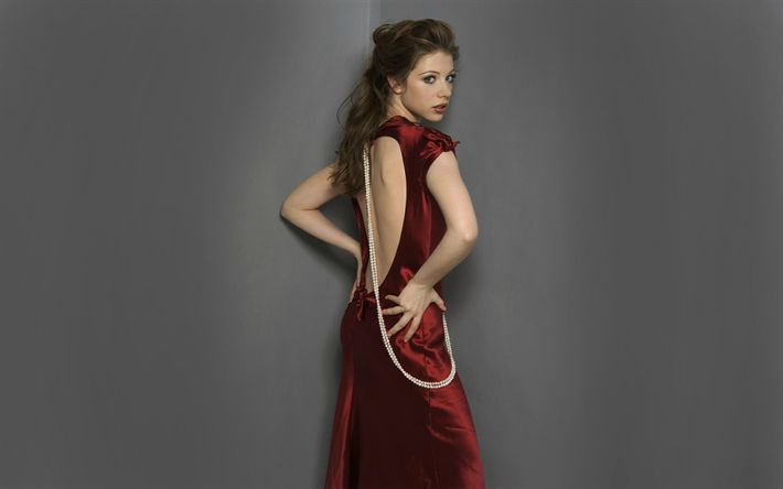 Download wallpapers Michelle Trachtenberg, red dress, beauty, Hollywood, american actress, young actress