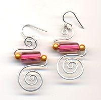 wire wrap earrings simple