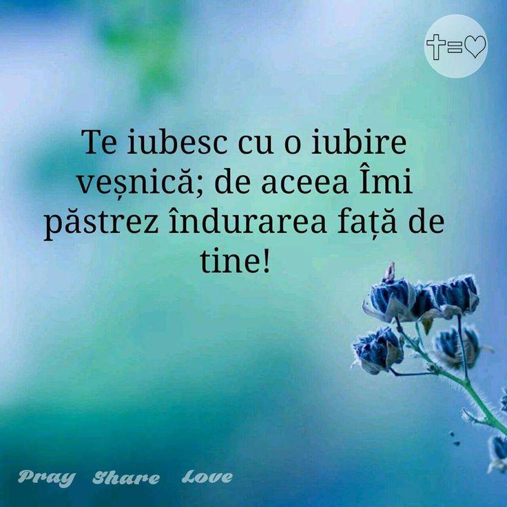 https://www.facebook.com/praysharelove/ Ce poate fii mai frumos decât să știi că ești iubit cu o iubire veșnică? #îndurare #dragoste #de #Dumnezeu
