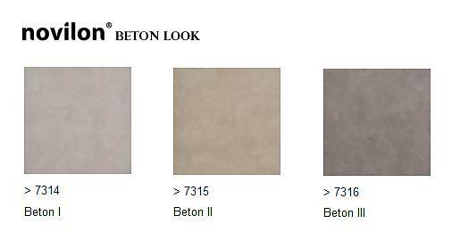 Novilon beton look vloeren (vinyl) -zacht, deukt in bij zware meubels, schuiven kan scheuren