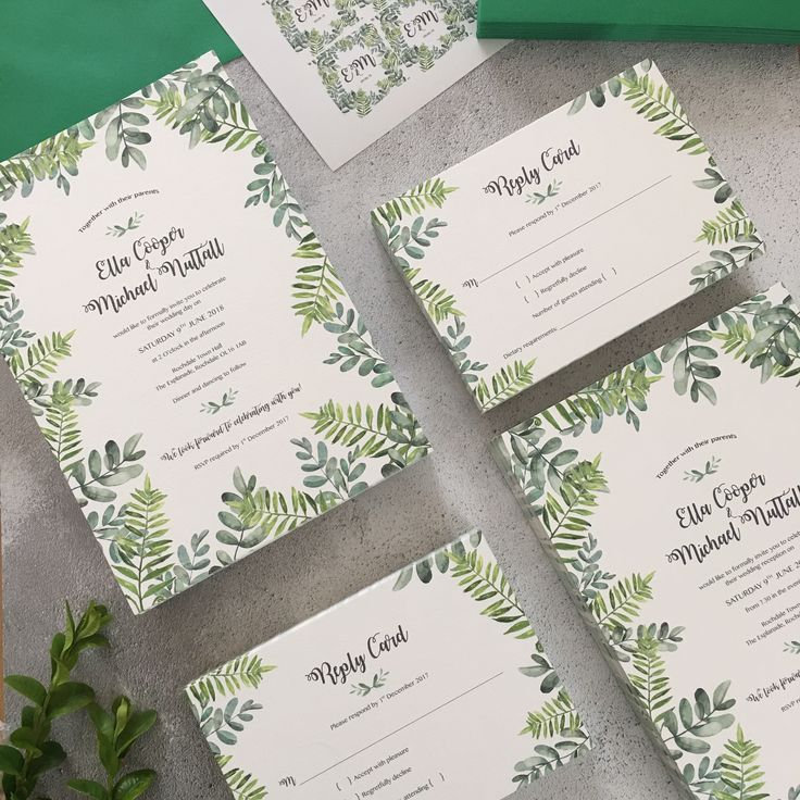 wedding stickers for invitations%0A Luxury wedding invitation suite with a watercolour botanical leaf design  printed onto     gsm laid card
