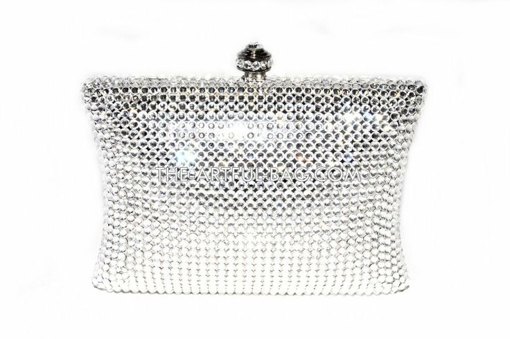 The-Artful-Bag.com - The Mini Classic Silver Swarovski Clutch Bag, £299.00 (http://www.the-artful-bag.com/the-mini-classic-silver-swarovski-clutch-bag/)