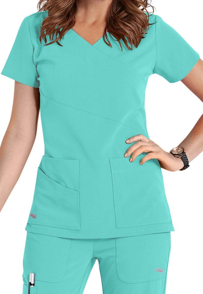 Greys Anatomy Υπογραφή 3-Pocket Wrap Scrub Αρχή | Τρίβει & Beyond