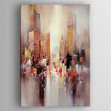 Ölgemälde moderne abstrakte Landschaft Hand bemalte Leinwand mit gestreckten gerahmten – EUR € 62.99