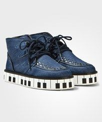 Stella McCartney Kids Munster Denim Shoes with Piano Sula 4160