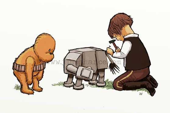 Wookie the Chew -- cute little mix of Star Wars and Winnie The Pooh