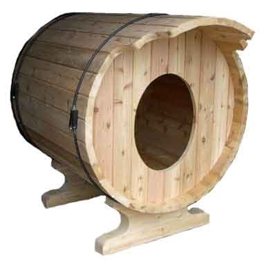 45 best creative dog houses images on pinterest dogs for Barrel dog house designs