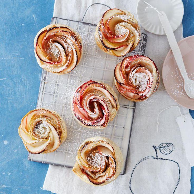 Rezept Apfelrosen-Muffins von Zucker, Zimt und Liebe