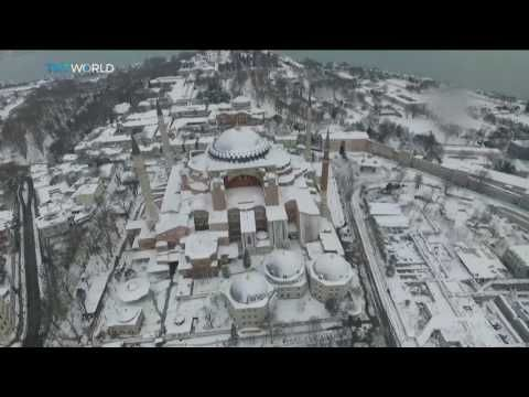 Take a look at the drone footage of Istanbul under heavy snow. | Budaviva.com