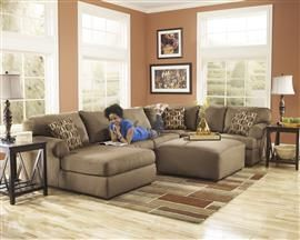 Cowan Mocha Sectional Set By Signature Design In Living Room Sets The