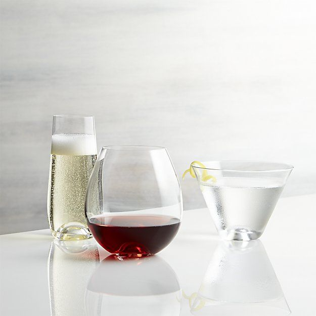 Lulie Stemless Martini Glass | Crate and Barrel