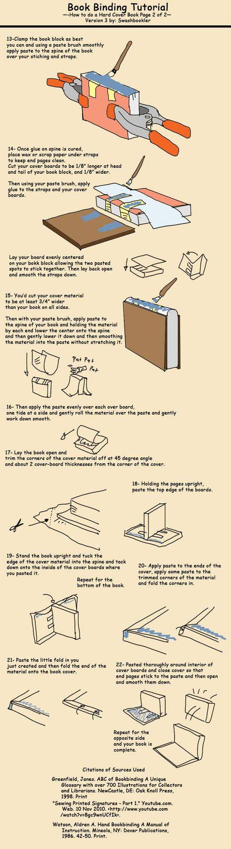 Book Tutorial pg 2 by Swashbookler Book binding diy