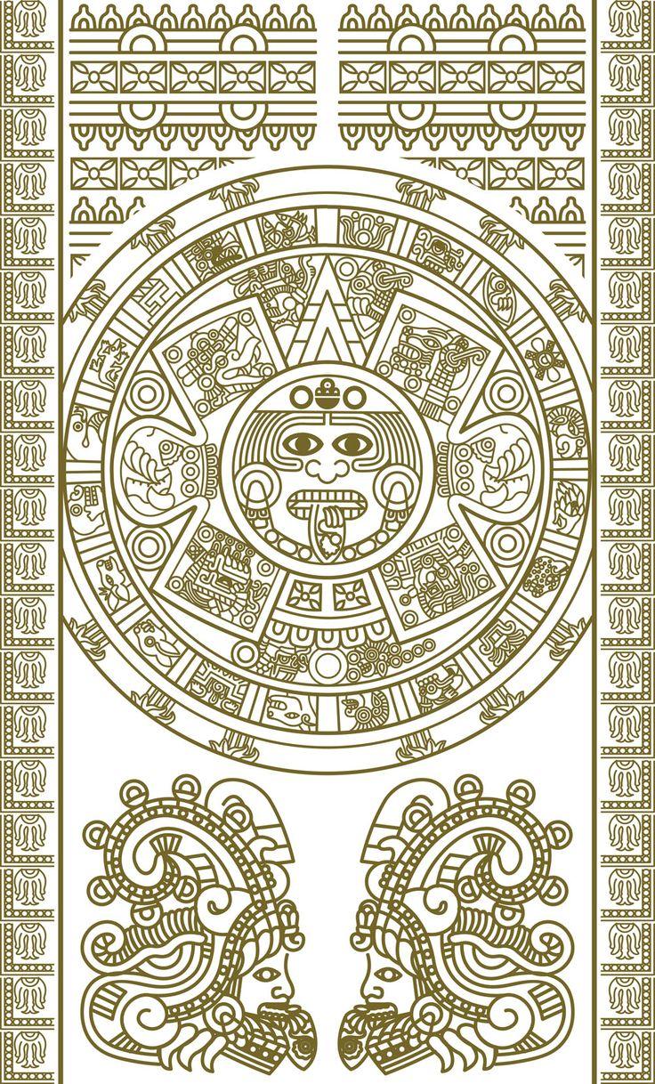free vector Mayan patterns 02 vector | RTC Inspo | Aztec ...