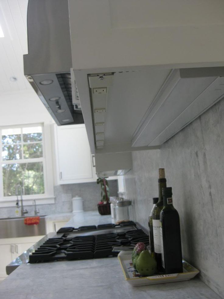Electrical outlets done the right way. This makes them more frequent without disturbing the back splash.