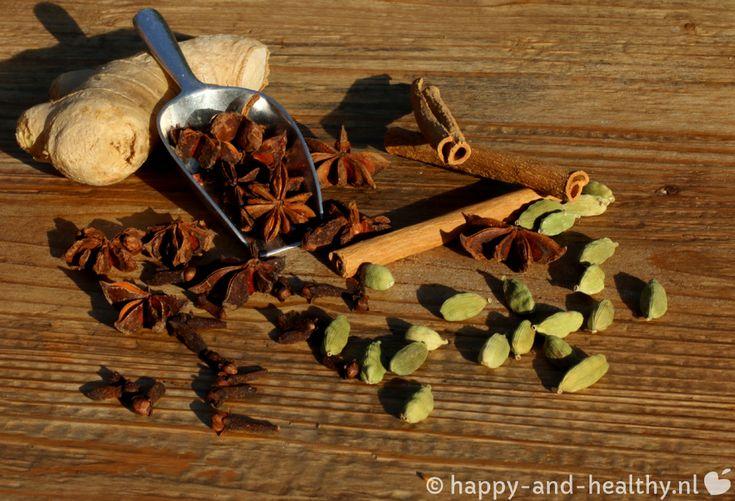 Chai thee, heerlijk kruidig en verwarmend! - Happy and healthy