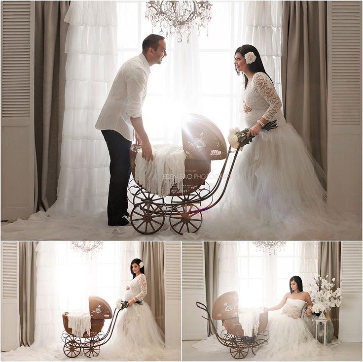 Kirkland Maternity Photographer French Doors Chandeliers