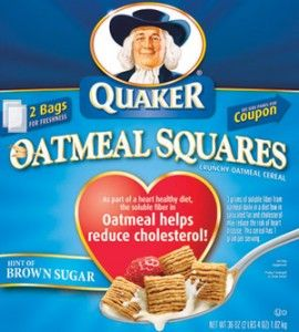 Free Box of Quaker Oatmeal Squares - Yum!