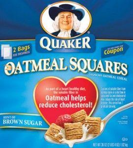 Free Box of Quaker Oatmeal Squares - Yum!