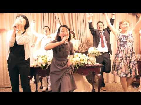 こんな余興みたことない!ぺーちゃんとまきちゃんの結婚式余興(改正版) - YouTube
