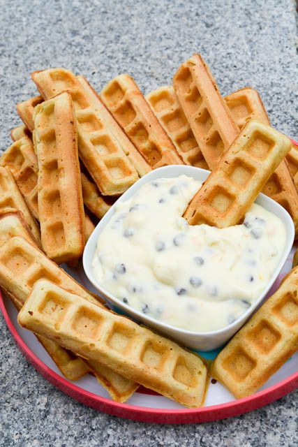 Waffle Sticks with a Cannoli Dip