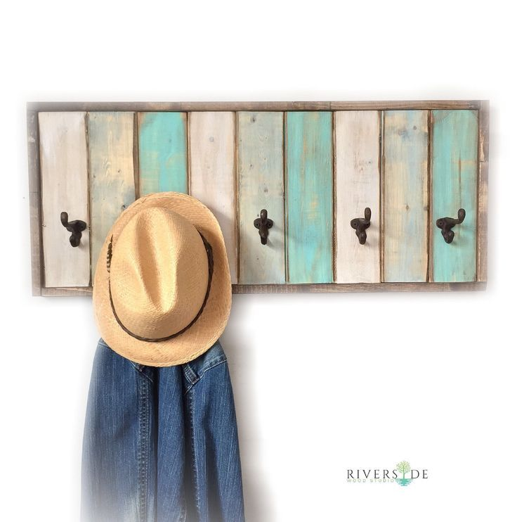 Excited to share the latest addition to my #etsy shop: FREE SHIPPING / Wood Coat Rack Coat Hook / Distressed Coat Hook / Rustic Home Decor / Bathroom Towel Hooks / Reclaimed Pallet Furniture