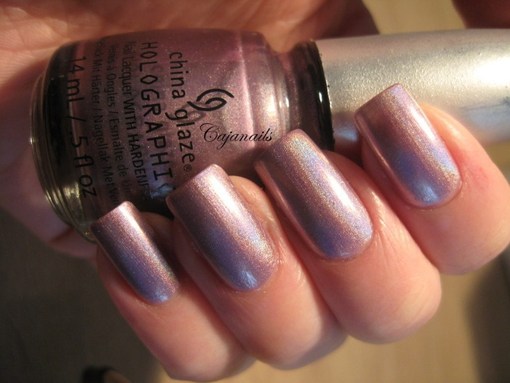 """China Glaze Hologlam collection """"Get outta my space""""  Live swatches on http://www.youtube.com/cajanails"""