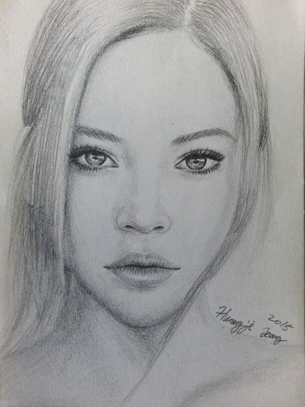 Pancil drawing portrait of Barbara Palvin by Hwang-ji ...