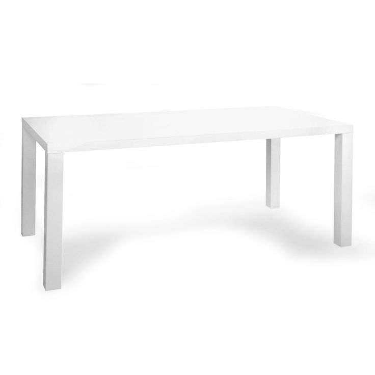 Table de repas rectangulaire blanc claudia tables for Miroir 180x90