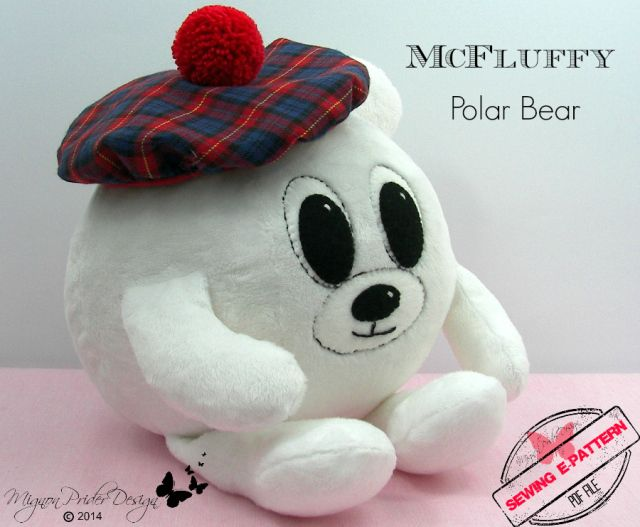 Introducing McFluffy Polar Bear [a sewing e-pattern]