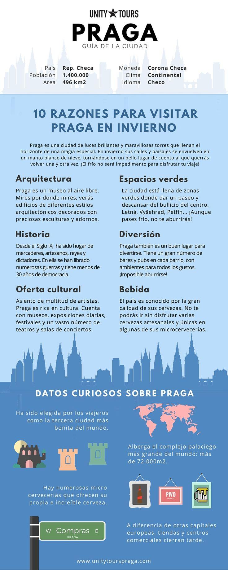 Praga no necesita excusa para ser visitada, pero debes conocer estos datos de interés para viajar en invierno. ¡Te encantará!  #RepúblicaCheca #Turismo #Praga #QuehacerEnPraga #Viajar #Viajes