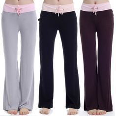 DIY YOGA PANTS FREE PATTERN: these are soooooo comfortable!!!!!! Free Women's PJ…