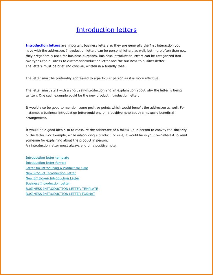 business introduction letter sample for new build resume free - introduction letter format