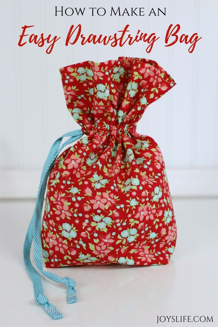 How to Make an Easy Drawstring Bag - They make awesome gift giving bags! #BrushingEvolvedBBB ad