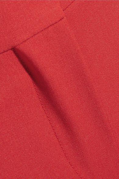 Alexander McQueen - Cropped Grain De Poudre Wool Straight-leg Pants - Red - IT44