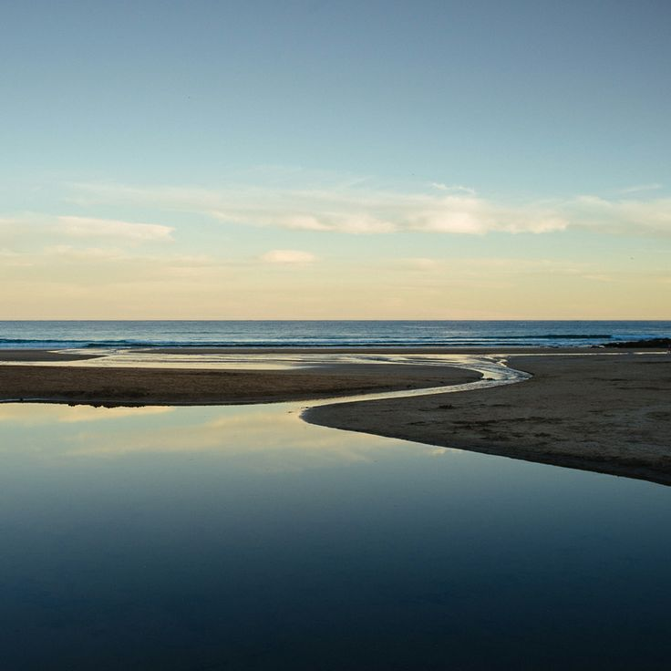 Low tide at Wye River, Victoria.